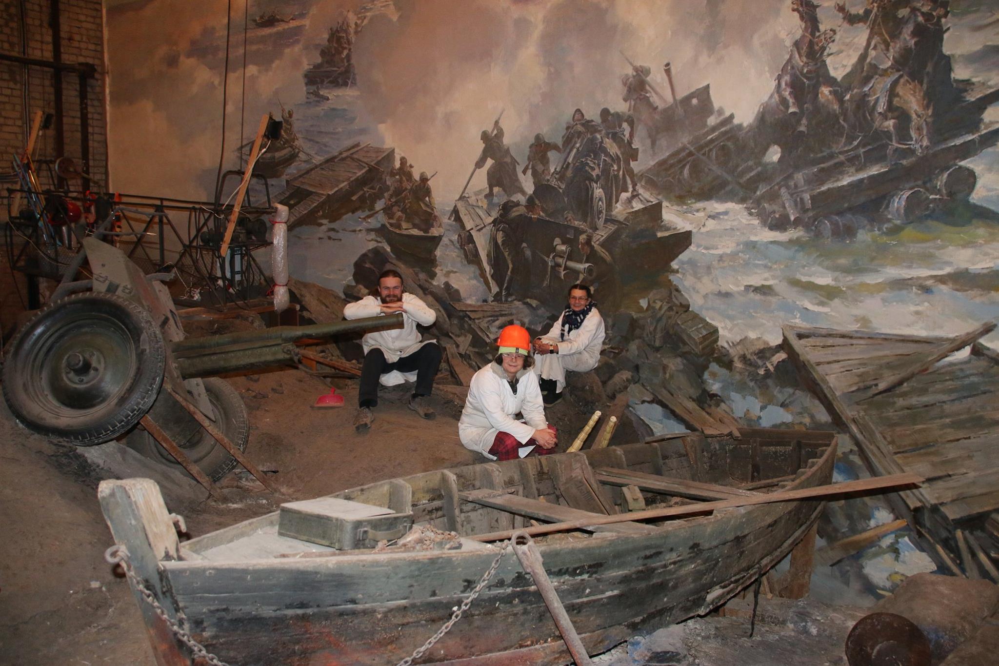 Диорама битва за днепр в днепропетровске фото