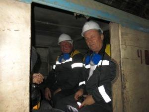 Экскурсия англичан в шахту им. Героев космоса