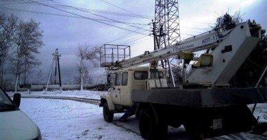 Востановление электроснабжения после непогоды