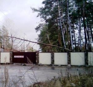 Непогода в Новомосковском районе