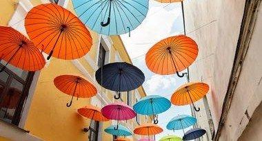 аллея зонтов