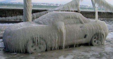 машина_зима