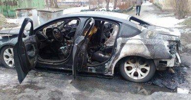пожар авто_Каменское