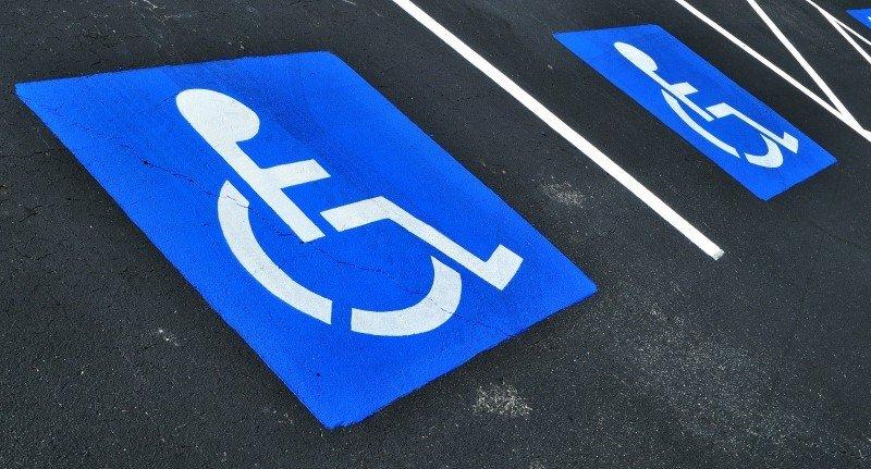 парковка на месте для инвалидов