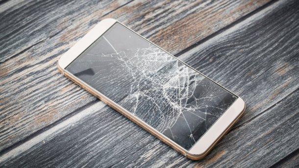 розбите скло на смартфоні