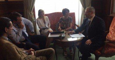 Александр Вилкул проводит серию рабочих встреч в парламенте Бельгии.
