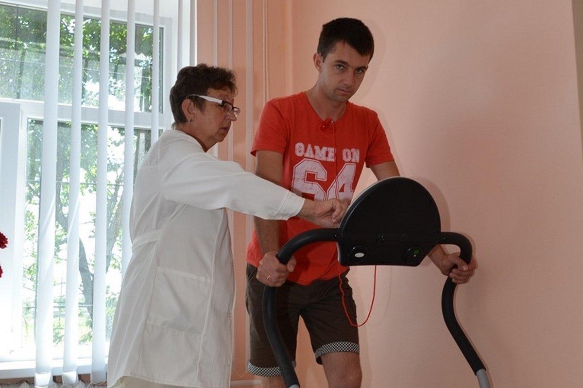 Кабинет лечебной физкультуры также оснащен современными тренажерами
