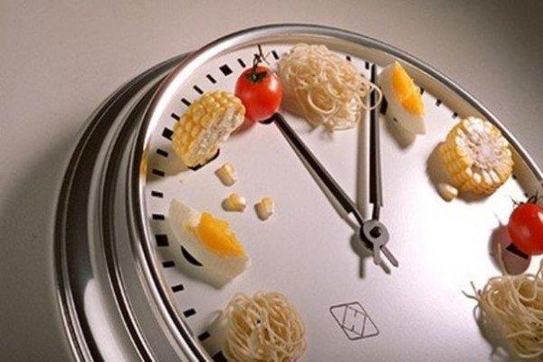 часы с едой