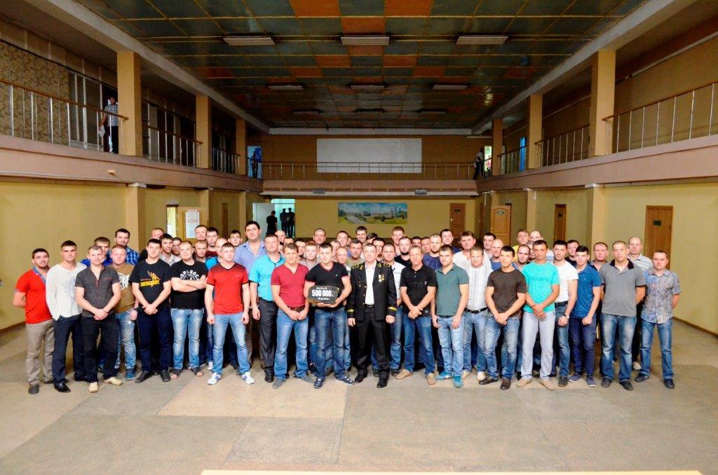 коллектив участка №6 шахты Самарская