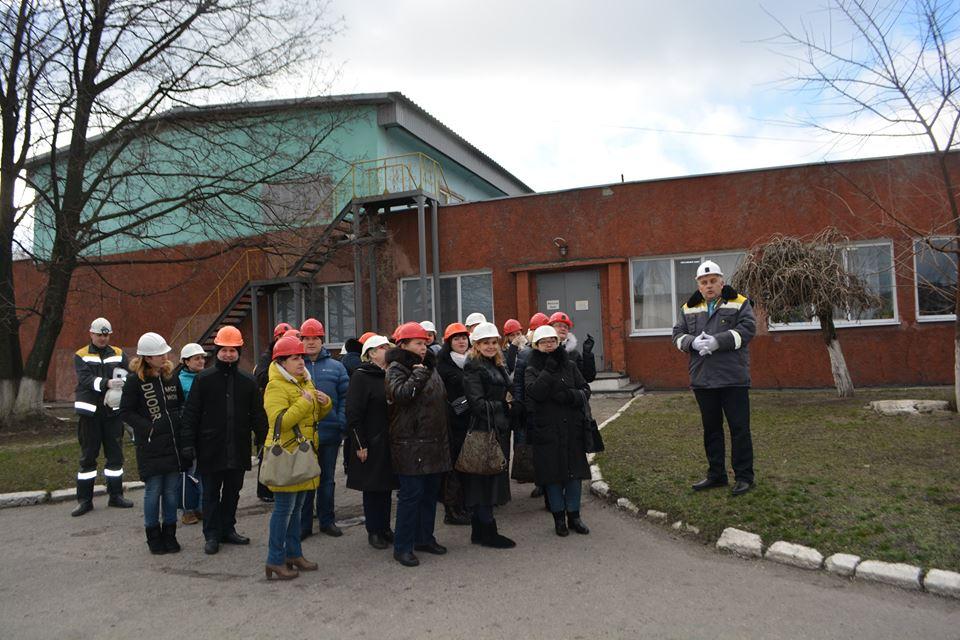 Экскурсия по территории шахты Западно-Донбасская
