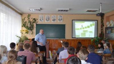 На встрече со старшеклассниками ШУ Терновское