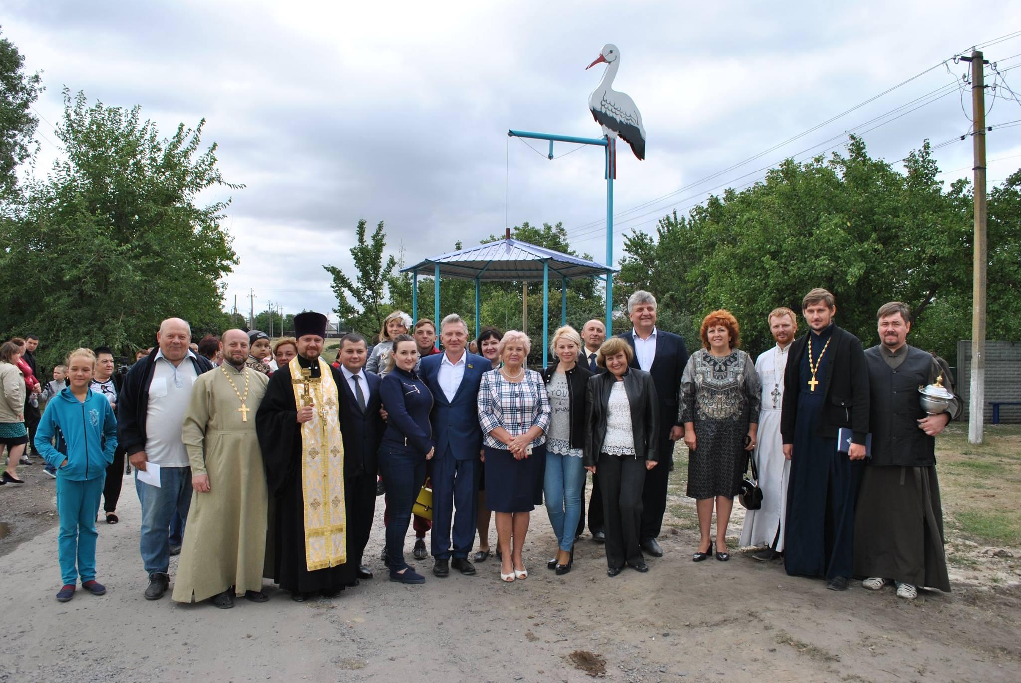 Открытие проекта ГСР Журавль приносит воду в Межиричах_