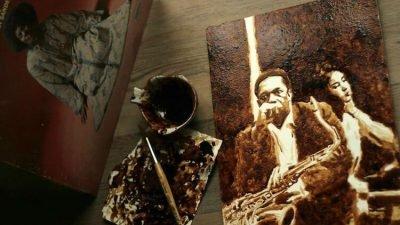 портрети зірок з кави