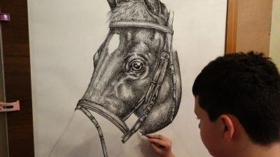 15-летний мальчик из Сербии рисует животных по памяти (фото)