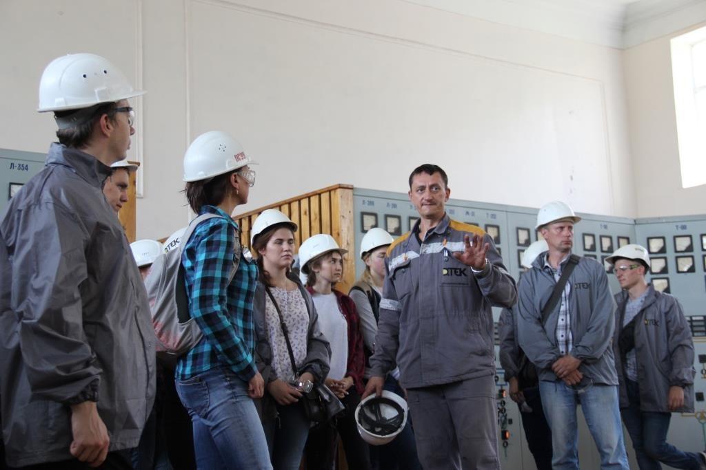 Будущие экологи ознакомились с работой ДТЭК Приднепровской ТЭС6