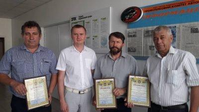 Награжденные сотрудники Павлоградской автобазы