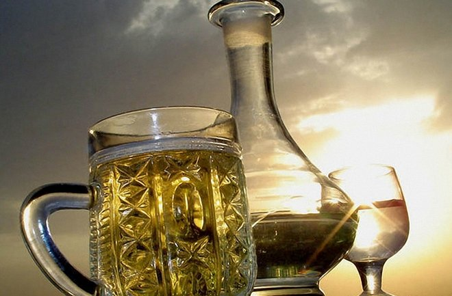 пиво и самогон