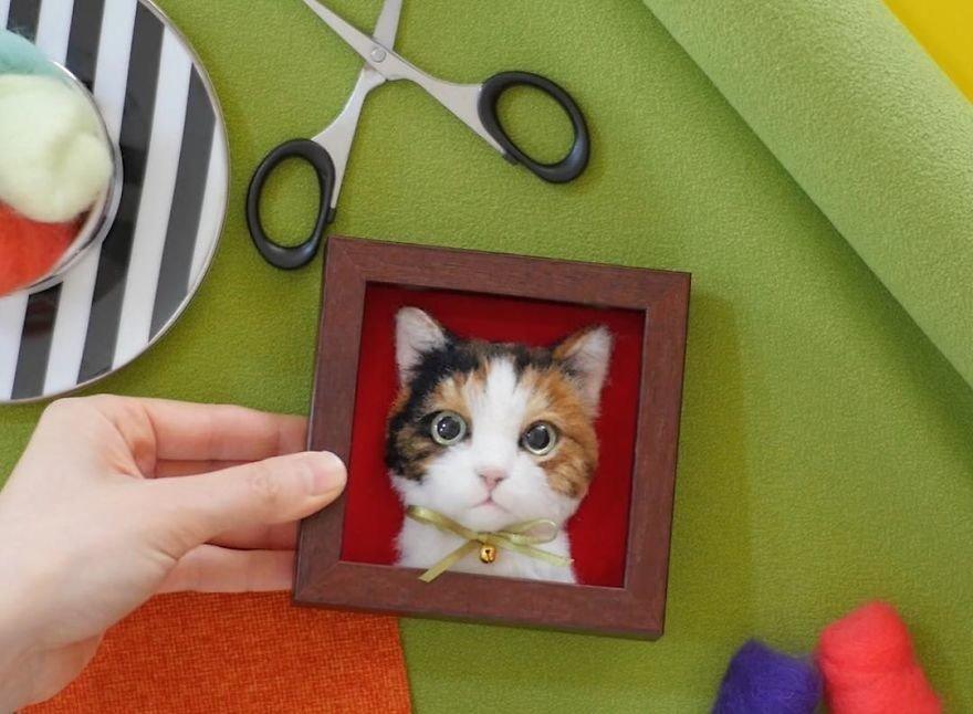 портреты кошек