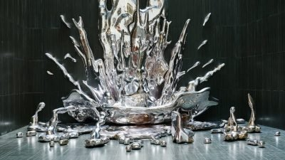 водопад из жидкого металла