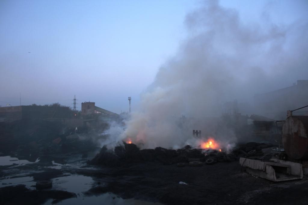 В Запоріжжі сталася пожежа на підприємстві