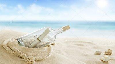 бутылка на пляже