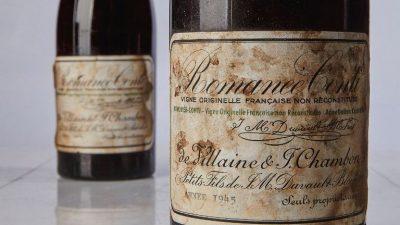 На аукционе Sotheby's бутылку вина продали за 558 тысяч долларов (Фото)