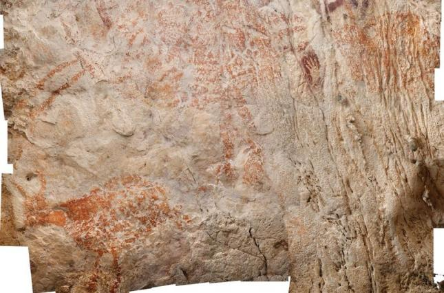 рисунок животного в пещере