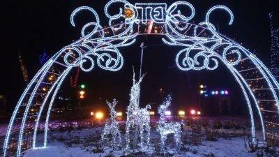 освещение в парке имени Шевченко
