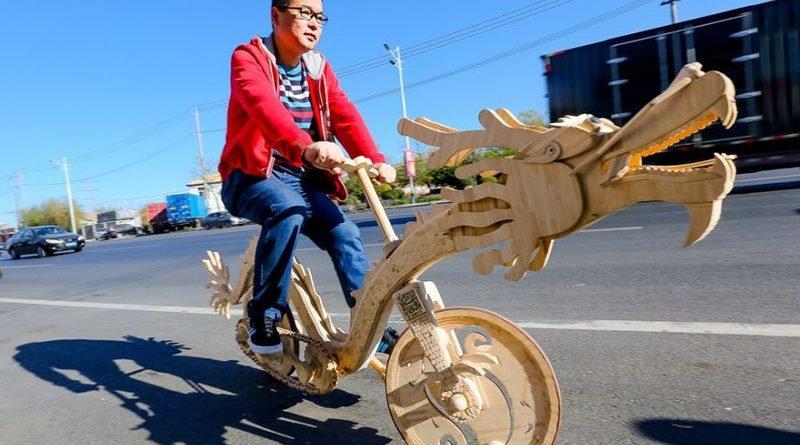 велосипед из палочек от мороженого