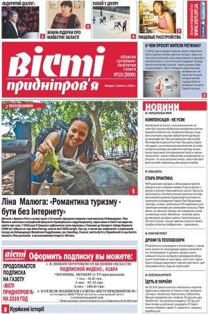 Газета Вісті Придніпров'я 12 лютого 2019 року №10 (2009)