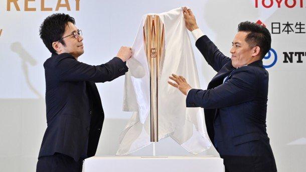 В Токио презентовали олимпийский факел