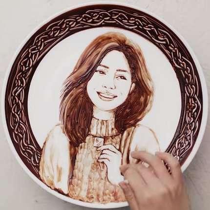 портрети шоколадом