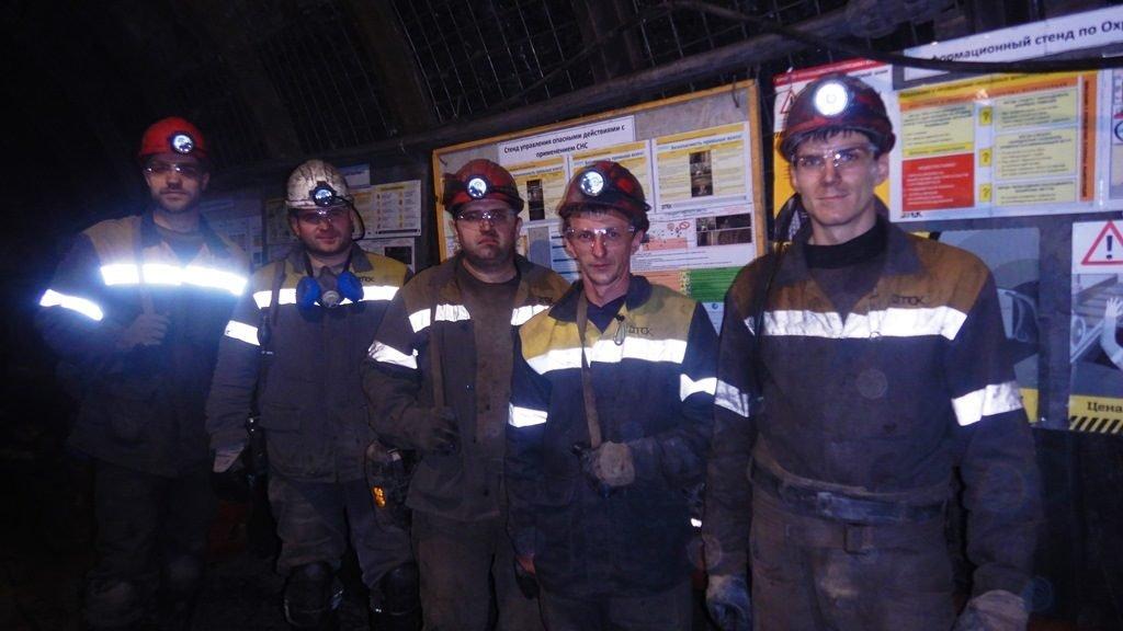 Работники первой смены участка по добыче угля №1