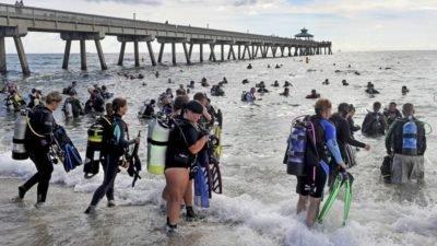 во Флориде дайверы очистили дно океана