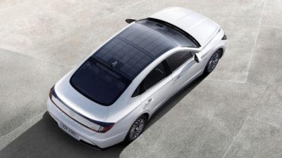 Hyundai с солнечной крышей