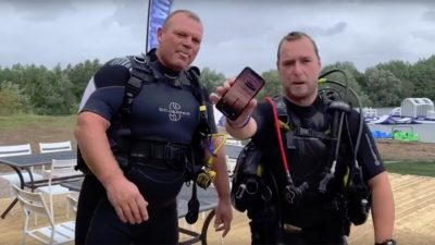 iPhone X нашли на дне озера