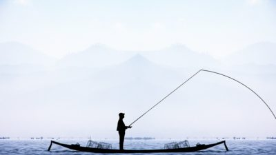 рыбак озеро