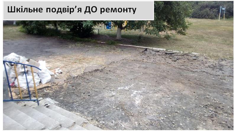 Шкільне подвір'я ДО ремонту