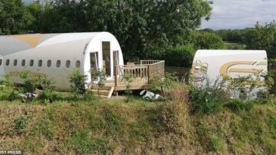 самолет-отель в Великобритании