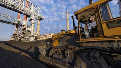 уголь на складах ТЭС ДЭТЕК