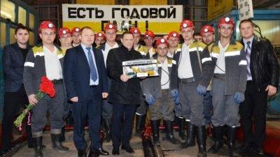 Символічна бригада прохідників ШУ Дніпровське звітує про виконання річного плану