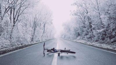 дорога снег