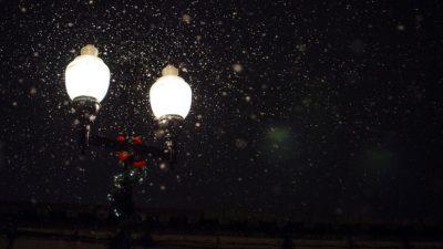 свет зима фонарь