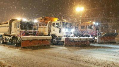 дороги снег