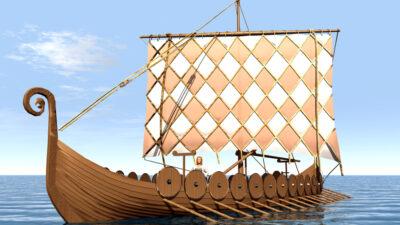 погребальный корабль викингов