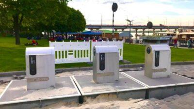У Дніпрі на набережній встановили нові підземні контейнери для сміття (фото)