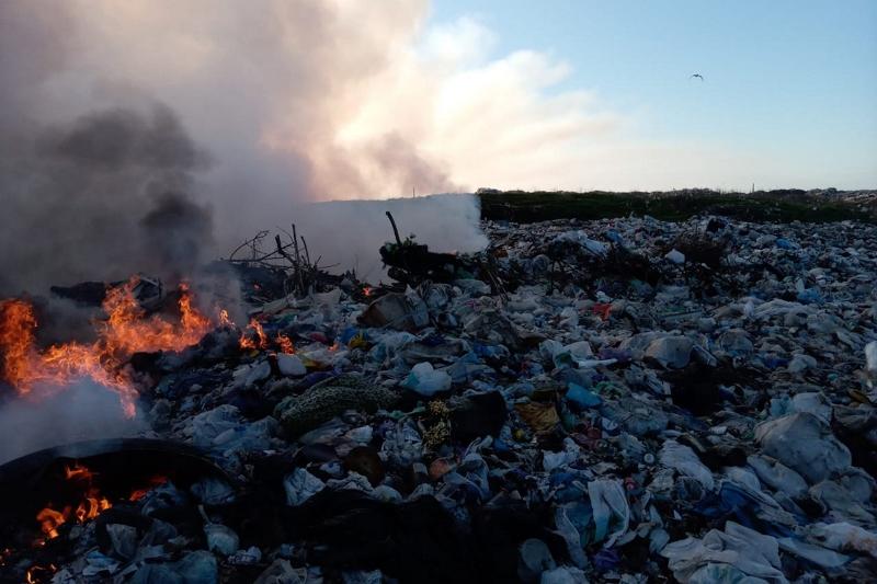 пожежа на сміттєвому полігоні_Павлоградський район