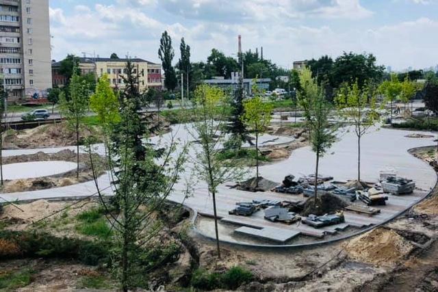 сквер на Слобожанском_Днепр