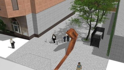 В Днепре начали строительство новой пешеходной аллеи (фото)