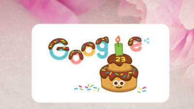 Google створив дудл на честь свого 23-річчя